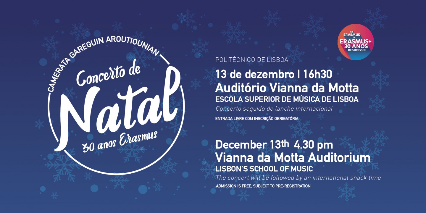 ERASMUS+ Christmas Concert- Lisbon's School of Music Vianna da Motta Auditorium