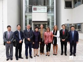 Delegação de educação da China na ESTeSL
