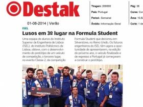 Estudantes do ISEL foram notícia no jornal Destak