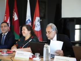 Secretários de Estado dos Assuntos Fiscais e da Adjunta e da Educação no IPL]