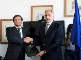 André Sendin, novo presidente da ESCS e Elmano Margato, presidente do IPL