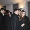 Estudantes na cerimónia